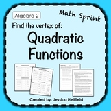 Graphing Quadratic Functions Activity: Math Sprint