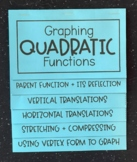Graphing Quadratic Functions (Algebra Foldable)