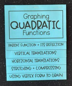Graphing Quadratic Functions (Algebra Foldable)
