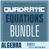 Quadratic Functions & Equations ALGEBRA Bundle (10 product