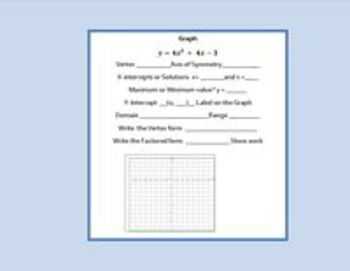 Quadratic Functions - Graphing with Technology - Bundle Lessons