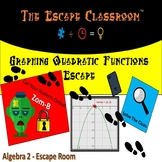 Graphing Quadratic Functions Escape Room - Algebra 1 & 2