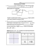 Graphing Quadratic Functions Handout