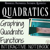Graphing Quadratic Functions Interactive Notebook for PreCalculus