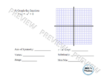 Graphing Quadratic Functions/Parabolas Lesson 2 of 2