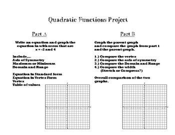 Graphing Quadratic Functions Mini-Project