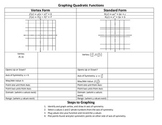 Graphing Quadratic Functions Notes