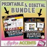 Graphing Quadratic Functions Review Printable/Digital Bundle
