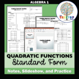 Graphing Quadratic Functions (Standard Form) - Notes, Powe