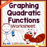 Graphing Quadratic Functions (Standard Form) Worksheet