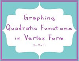 Quadratic Equations - Lesson 1 - Vertex Form