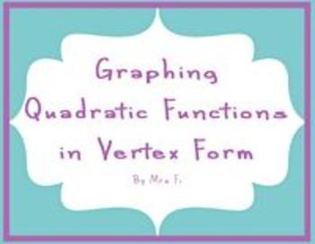 Quadratic Equations - Lesson 1 - Vertex Form