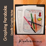 Graphing Quadratic Funtions Doodle Notes or Graphic Organizer