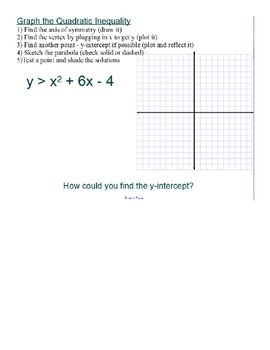 Graphing Quadratic Inequalities SmartBoard Lesson
