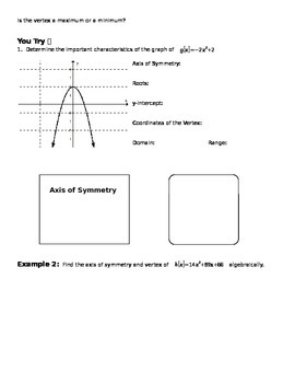 Graphing Quadratic Relations & Functions (Parabolas & Circles)