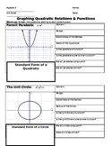 Graphing Quadratic Relations & Functions (Parabolas & Circles)