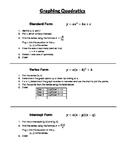 Graphing Quadratics Cheat Sheet