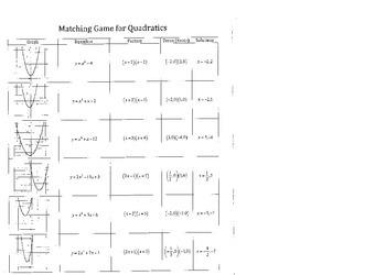 Graphing Quadratics Game