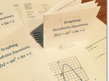 Graphing Quadratics - Introduction Booklet