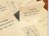 Graphing Quadratics - Introduction Booklet