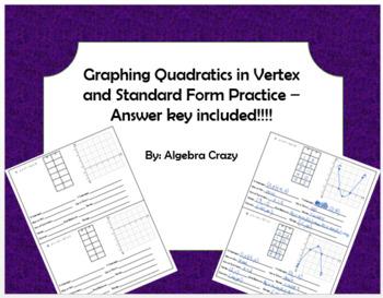 Graphing Quadratics Practice