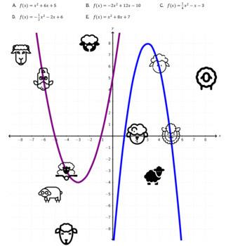 Graphing Quadratics - Quadratic Equation Graph Attack (Crazy Sheep Zapping)