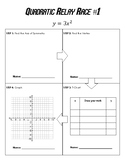 Graphing Quadratics Relay Race
