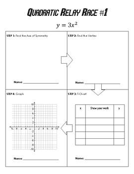Graphing Quadratics Relay Race