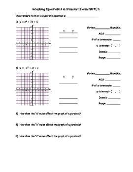 Graphing Quadratics - Standard Form NOTES