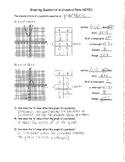 Graphing Quadratics - Standard Form NOTES KEY