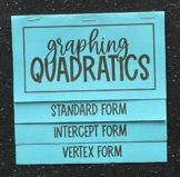 Graphing Quadratics (Standard, Intercept, & Vertex Form) Foldable