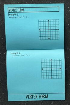 Graphing Quadratics (Standard, Intercept, & Vertex Form) Foldable