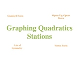 Graphing Quadratics - Stations - Student Self Assessment
