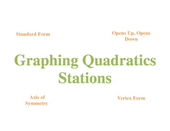 Graphing Quadratics - Stations - Student Self Assessment