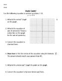 Graphing Quadratics Study Guide and Quiz