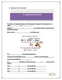 Graphing Quadratics Unit