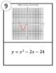 Graphing Quadratics Using Intercepts and Vertex Scavenger Hunt
