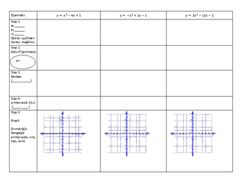 Graphing Quadratics in Standard Form with HW