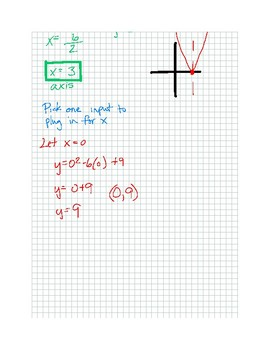 Graphing Quadratric Equations and Inequalities Notes
