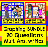 Graphing Questions BUNDLE 20 Illustrated Q's & Multiple Illustrated Responses