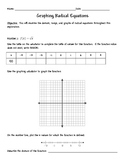 Graphing Radical Functions Exploration