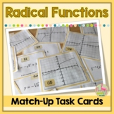 Graphing Radical Functions Match Up Activity