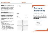 Graphing Rational Equations Trifold Help Sheet