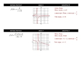 Graphing Rational Functions Card Sort