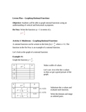 Graphing Rational Functions & Finding Asymptotes Lesson Plan