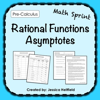 Rational Functions Activity FREE: Math Sprints by Math Methods | TpT