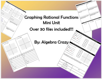 Graphing Rational Functions Mini Unit