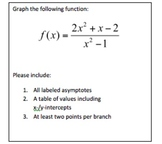 Graphing Rational Functions Project