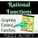 Graphing Rational Functions Activity Puzzle for PreCalculu