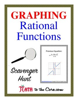 Graphing Rational Functions Scavenger Hunt